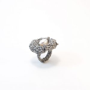 Handcrafted Ring with Pearl