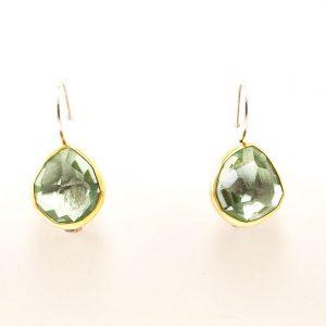 Silver & 18 ct Gold Earrings