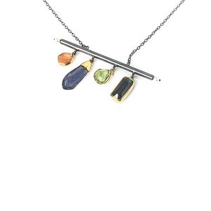 Silver & 18 ct Gold Necklace
