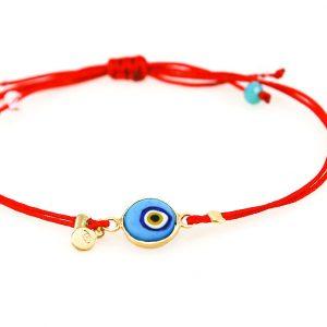 Silver gold plated  evil eye bracelet
