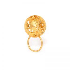 Handmade  Gold Plated  Brass Ring