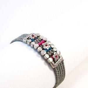 Gray trust Silver Bracelet