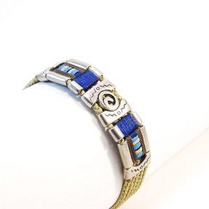 Khaki & blue Soul  Bracelet