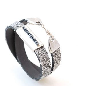 Silver bracelet with Hematite