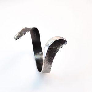 Rhodium&oxidised silver bracelet