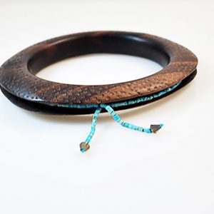 Bracelet with Ebony and turqoise