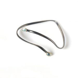 Oxidised Silver & 18 ct Gold Bracelet