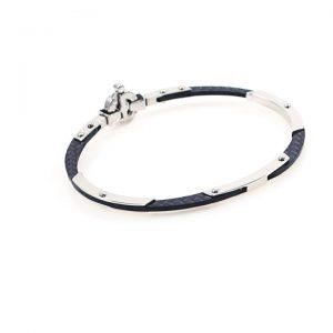 Steel and Carbon Men  Bracelet