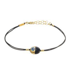 Evil  Eye  Enameled   Silver & Onyx Bracelet