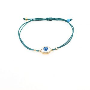 Gold plated silver bracelet with synthetic eye