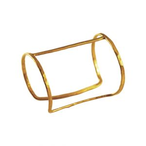 Gold plated hammered cuff