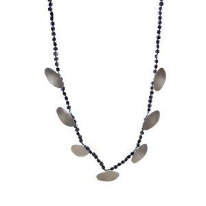Bohemian Silver N ecklace with Lapis Lazouli