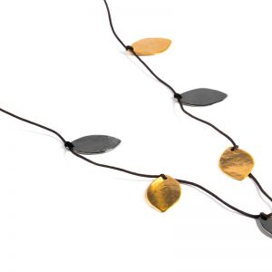 Long leaf coin Necklace