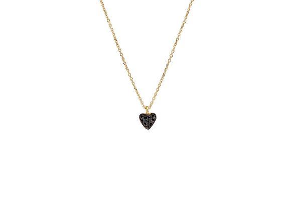 Gold  tiny heart  pendant with  zirgon