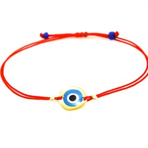 Silver gold plated  evil eye bracelet