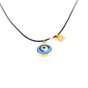 Silver gold plated  evil eye