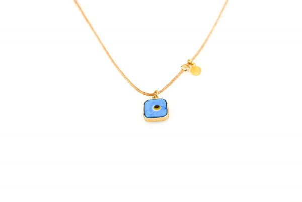 Silver gold plated  evil eye necklace