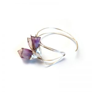 Handmade Silver Bracelet With PVC