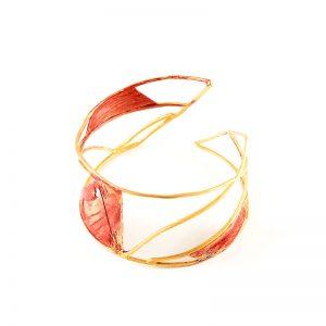 Handmade  Dublet Gold Plated  Silver Bracelet