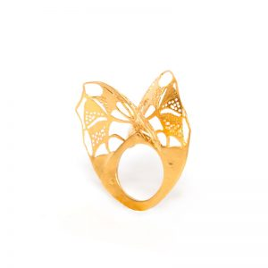 Handmade  Dublet Gold Plated  Silver Ring