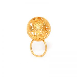 Handmade  Gold Plated  Brass Ring