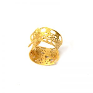 Handmade Silver Gold Plated  Ring