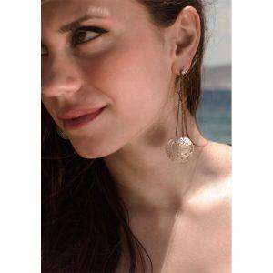 Handmade  Silver  & Rhodium  Earrings