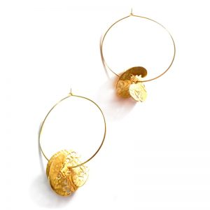 Handmade Silver Gold Plated  Earrings