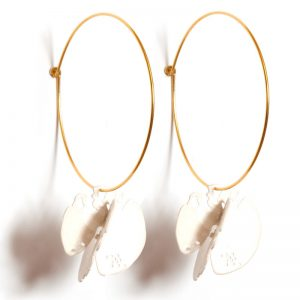 Handmade Brass Gold Plated & Silver plated  Earrings With Pearls