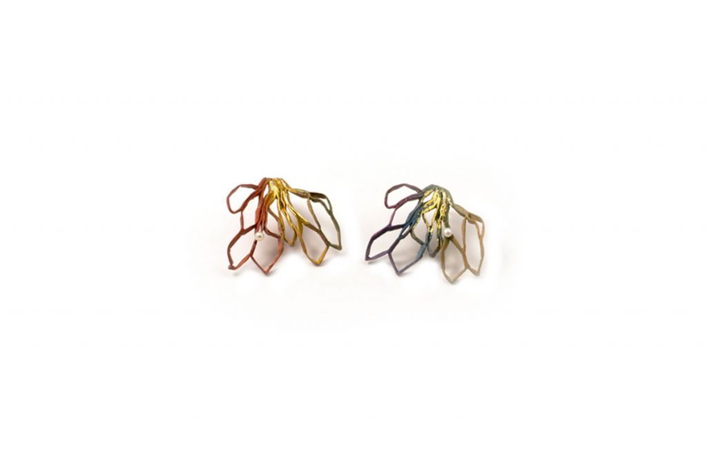 Handmade Silver Plated  Brass  Earrings