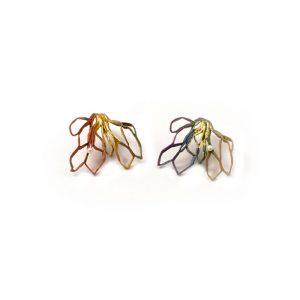 Handmade Silver Plated  Brass  Earrings