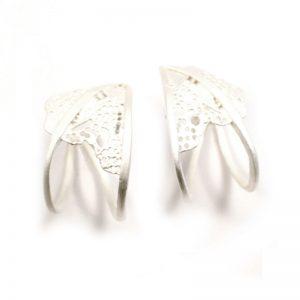 Handmade Silver Gold Plated  Earrings